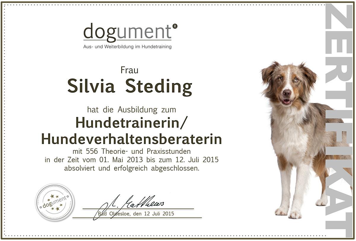 dogument®Zertifikat Silvia Steding