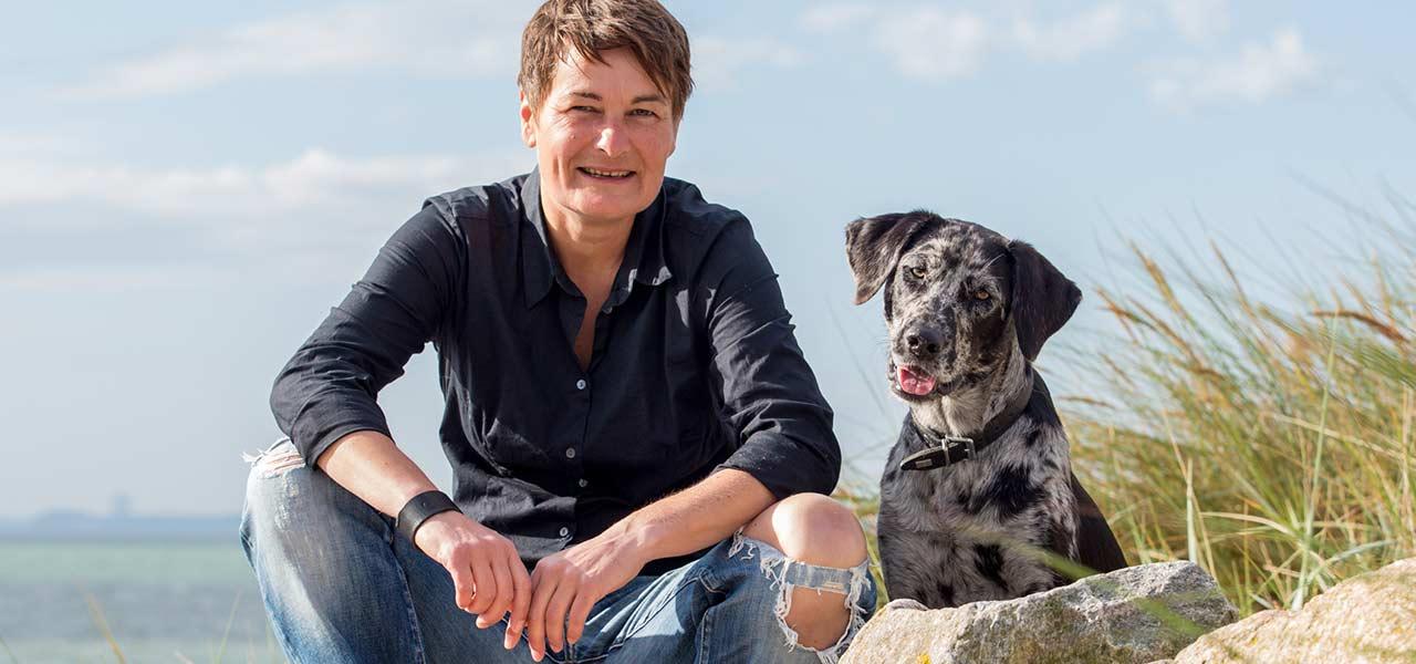 Hundetrainerin Silvia Steding mit Motte